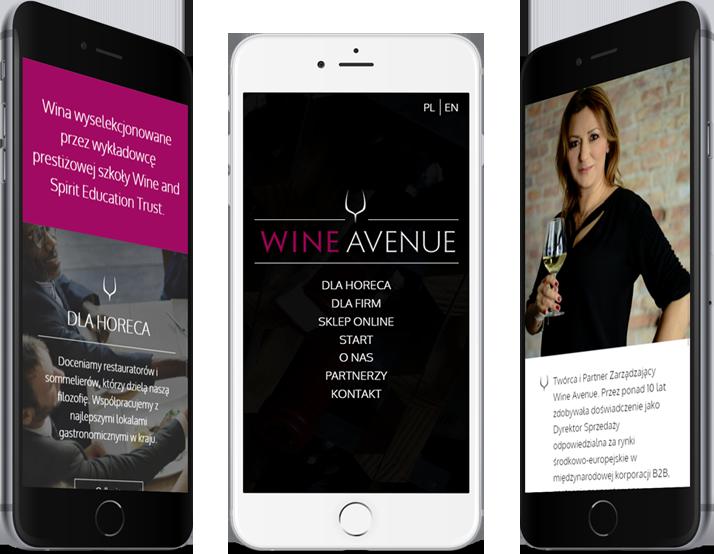 wine avenue strona mobilna
