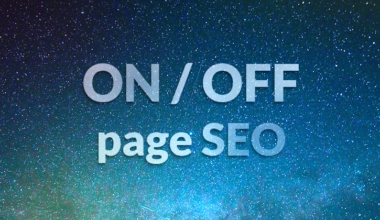 on page vs off page